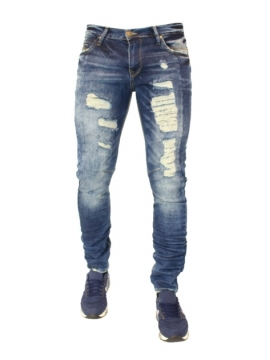 jeans dechire delave look fashion pantalon promo mode