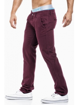 Pantalon homme bordeau