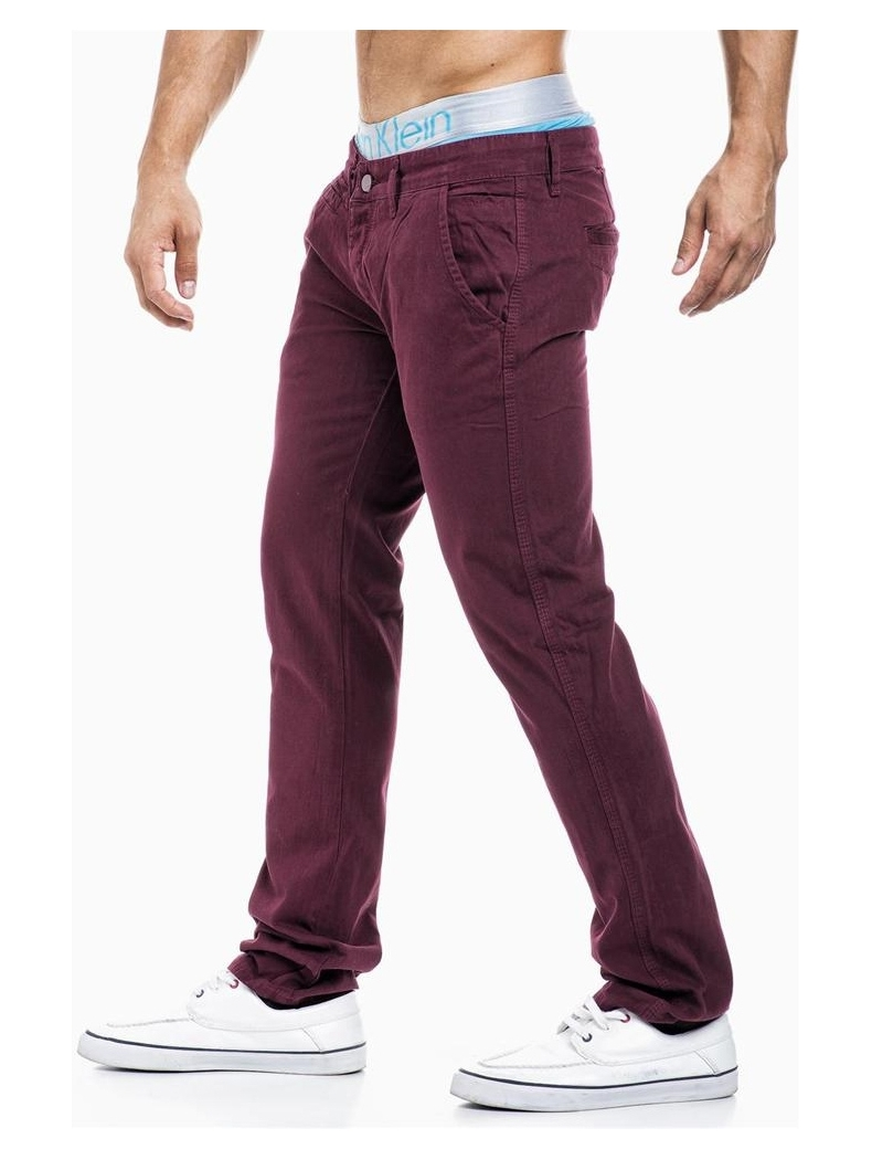 pantalon chino homme bordeaux r