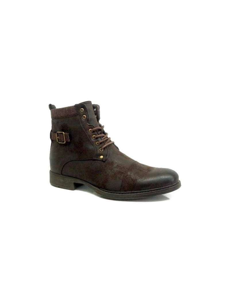 bottine fashion homme marron