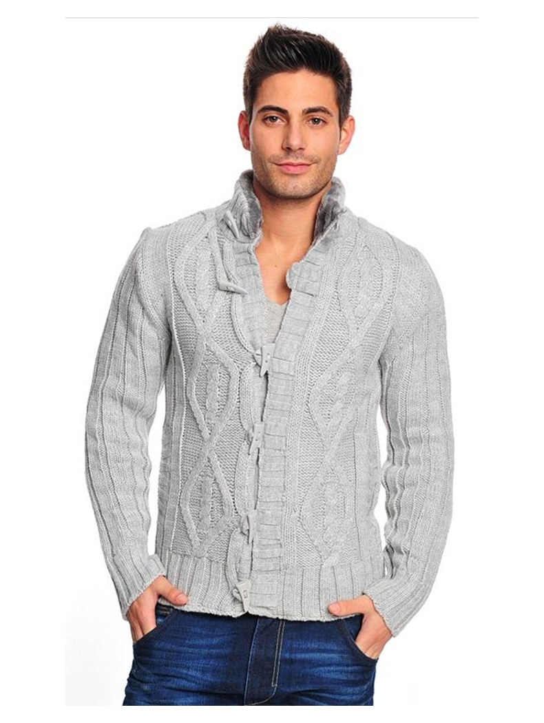 pull homme tendance gris