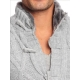 pull tendance homme gris