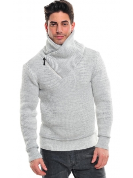 pull gris homme fashion