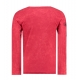 polo fashion rouge manche longue col rond