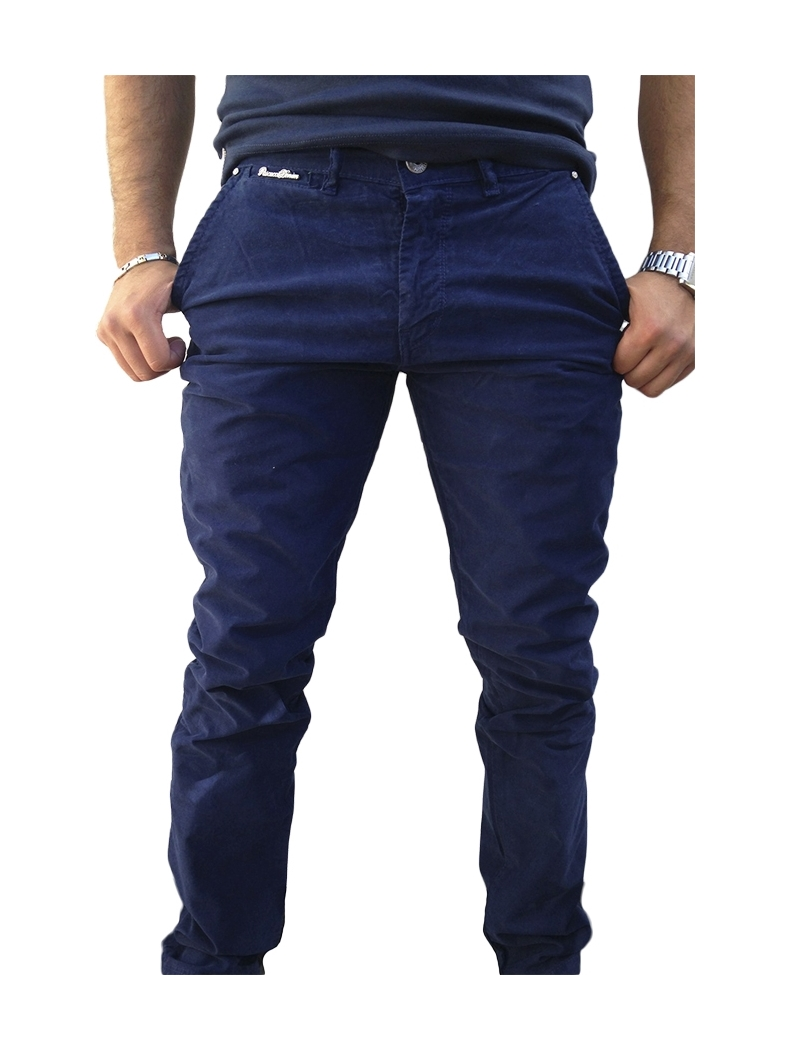 pantalon chino homme fashion bleu marine