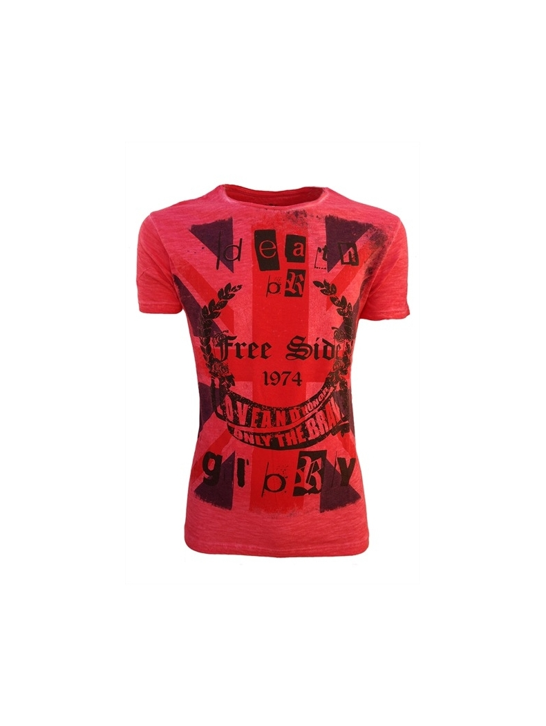 t shirt homme style rouge
