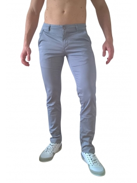 Chino taille haute gris