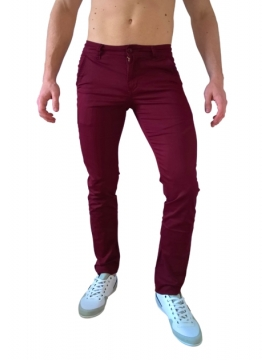 Pantalons chino casual rouge bordeaux