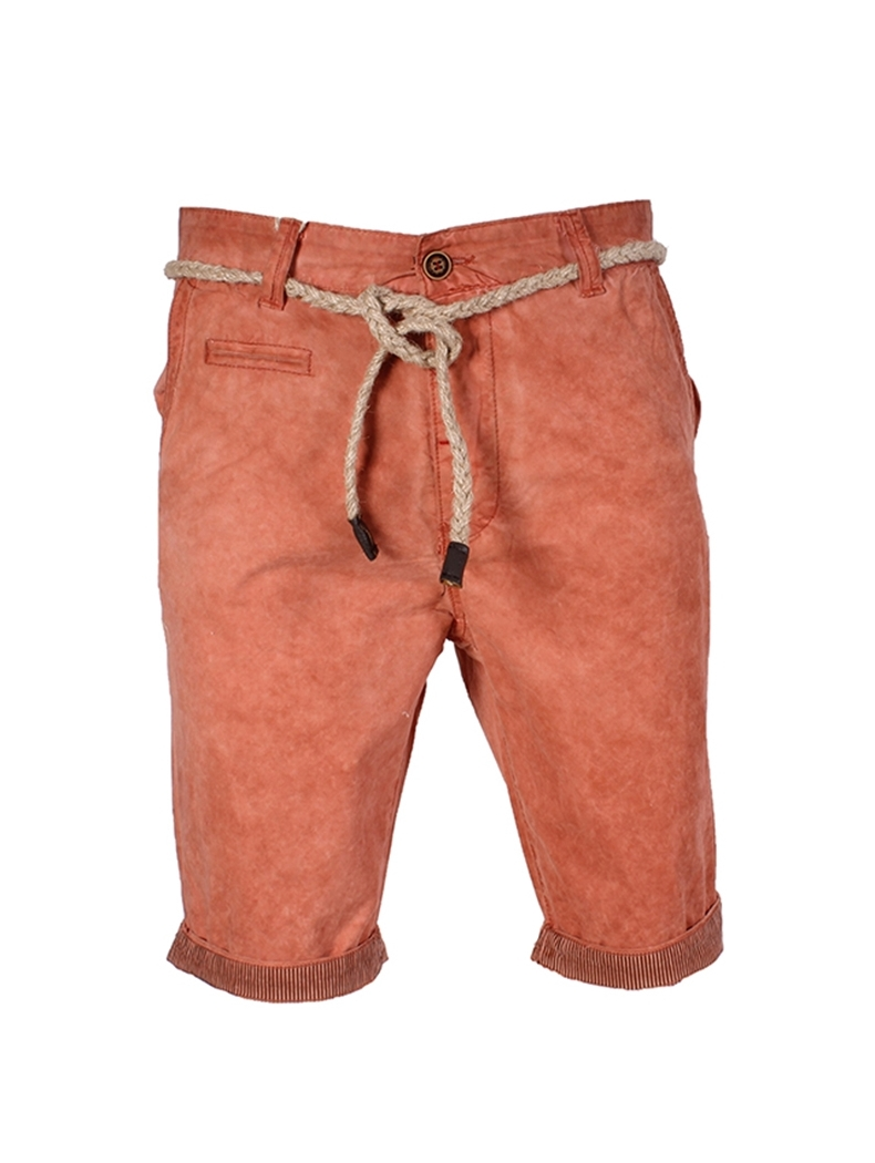 pantacourt homme fashion couleur orange