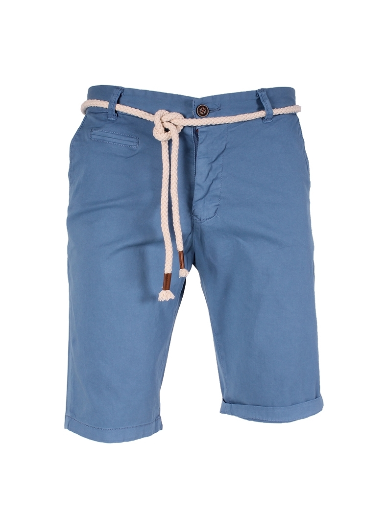 pantacourt chino bleu homme fashion