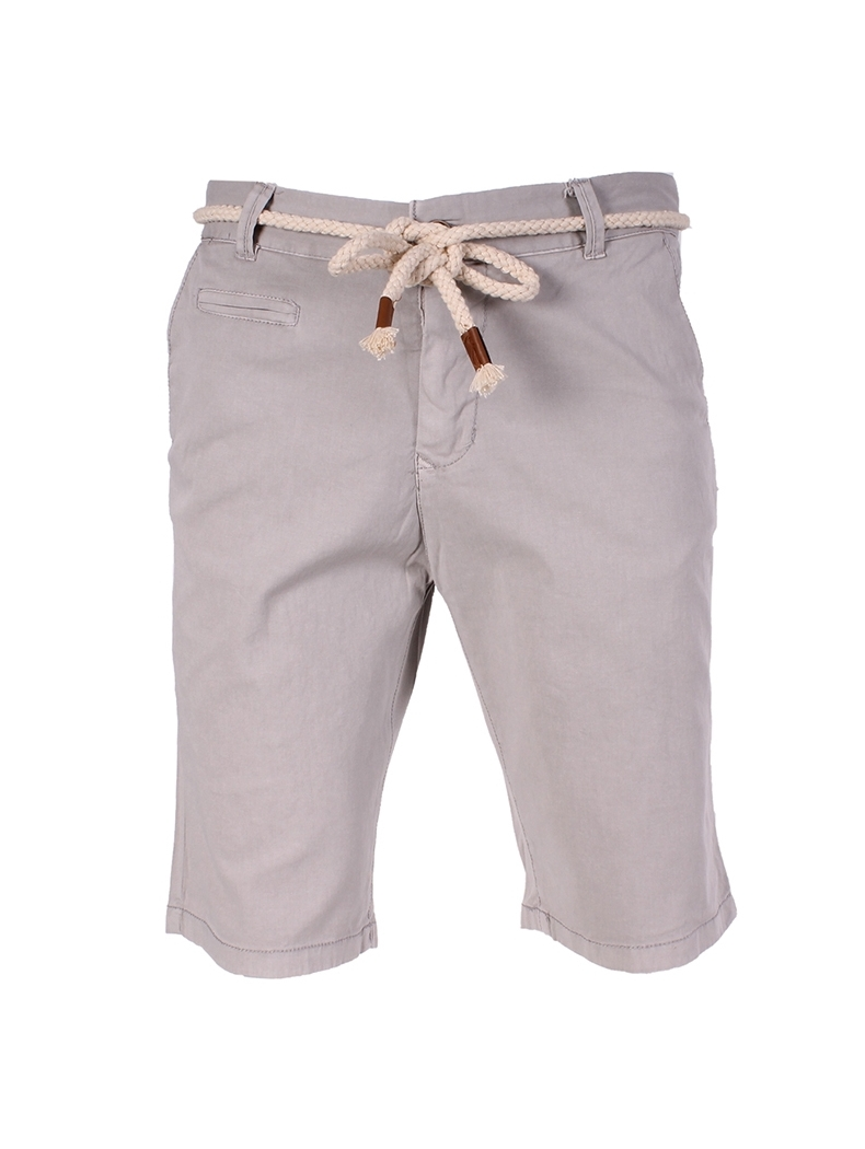 bermuda chino homme gris