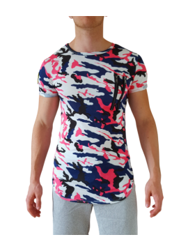 t shirt fashion imprime graphique fermeture zippee originale