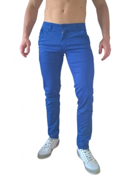 Chino pantalon stretch bleu
