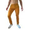 chino pantalon homme couleur ocre coupe slim