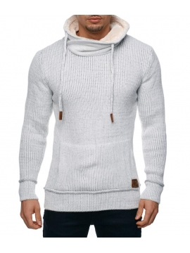 Pull col montant homme