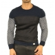 Pull bleu fashion homme