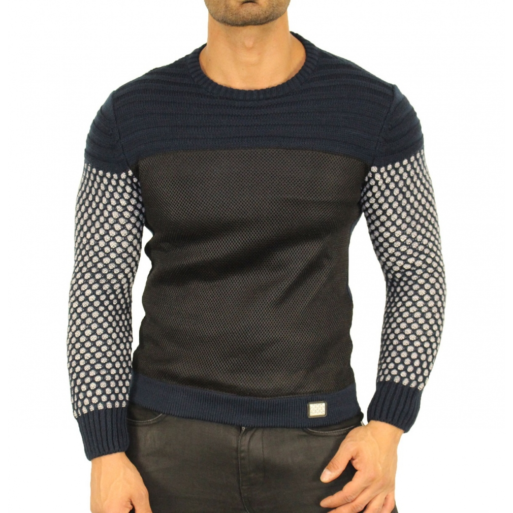 Pull homme styl col rond so fashion shop - Pull style homme ...