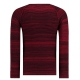 Pull homme rouge col rond en coton