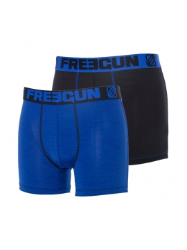Lot de 2 Boxers stylés Freegun DUO Bleu Noir