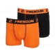 Duo boxers freegun orange noir fashion pas cher