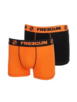 Lot de 2 Boxers fashion Freegun DUO Orange Noir