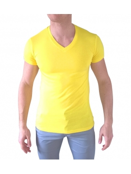 tshirt jaune collection ete manche courte