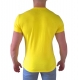 tee shirt slim jaune stretch polo col v