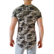 tee shirt armee col rond motif design vetement homme pas cher