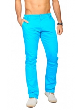 Pantalon chino stretch bleu