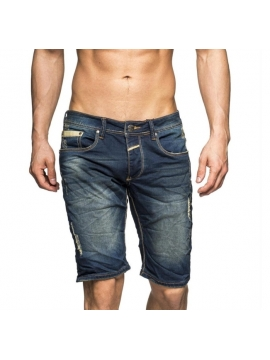 pantacourt jeans bleu us multigriffure short long ete tendance