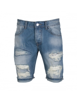 vetement homme fashion pantacourt jean dechire