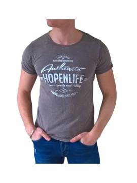 t shirt fashion manches courtes gris homme ete hopenlife