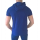 t shirt fashion hommes capuche bleu vetements ete 2017