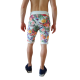 short long impression grosses fleurs short homme colore gai