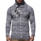 pull hiver pour hommes tricot torsade