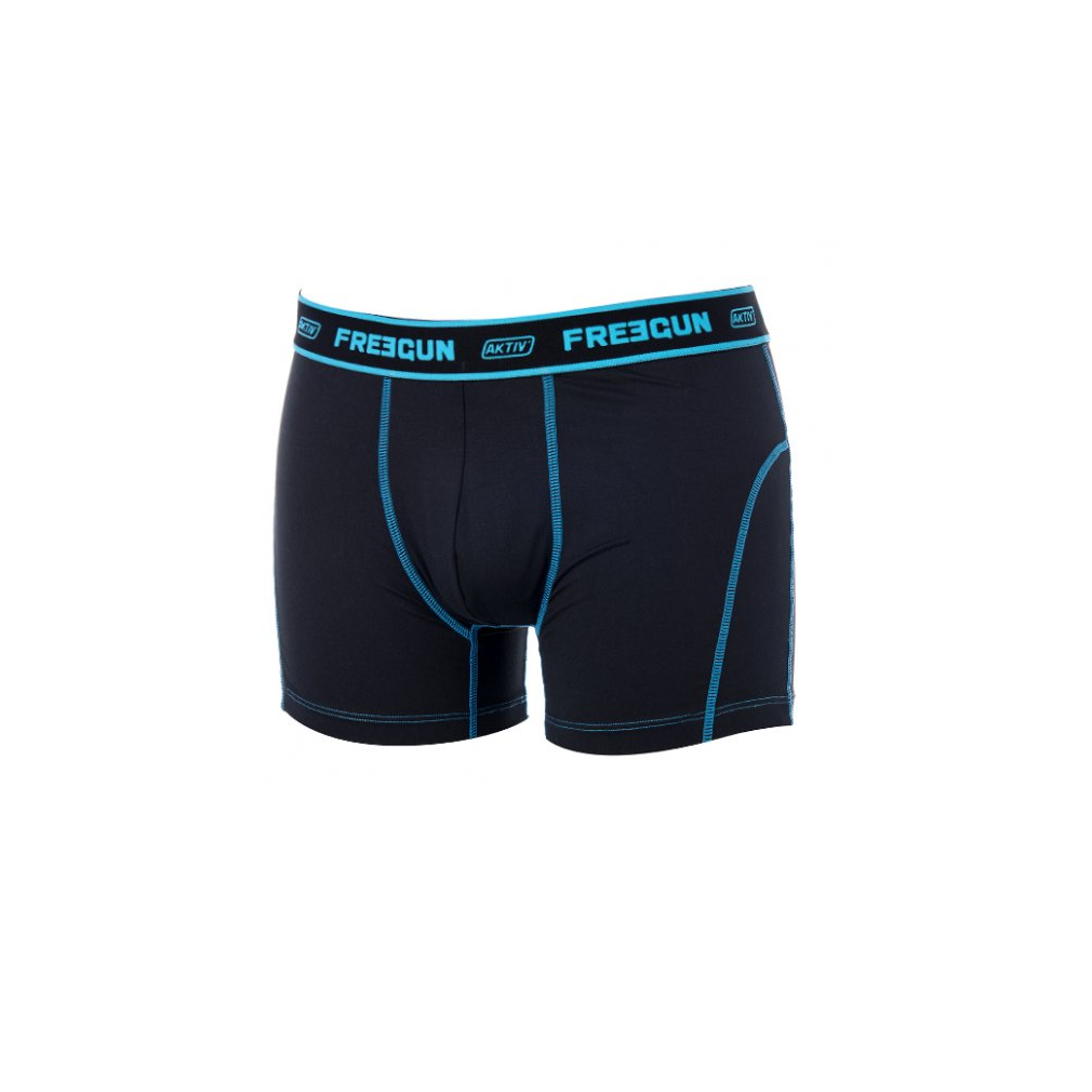 lot de 2 boxers freegun aktive pas cher pour homme bleu et noir bx13. Black Bedroom Furniture Sets. Home Design Ideas