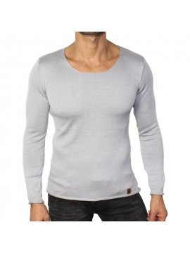 T-shirt fashion manche longue gris