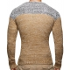 pull homme fashion marron