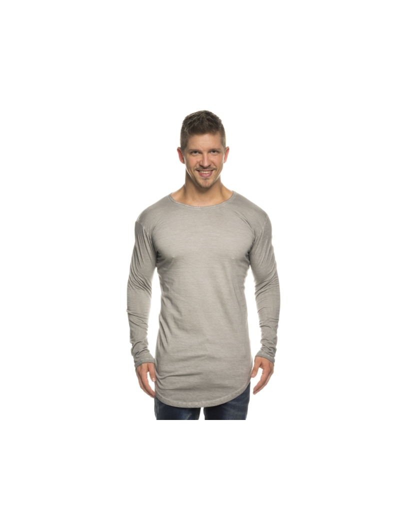 tee shirt oversize homme manche longue de couleur gris vetements fashion. Black Bedroom Furniture Sets. Home Design Ideas