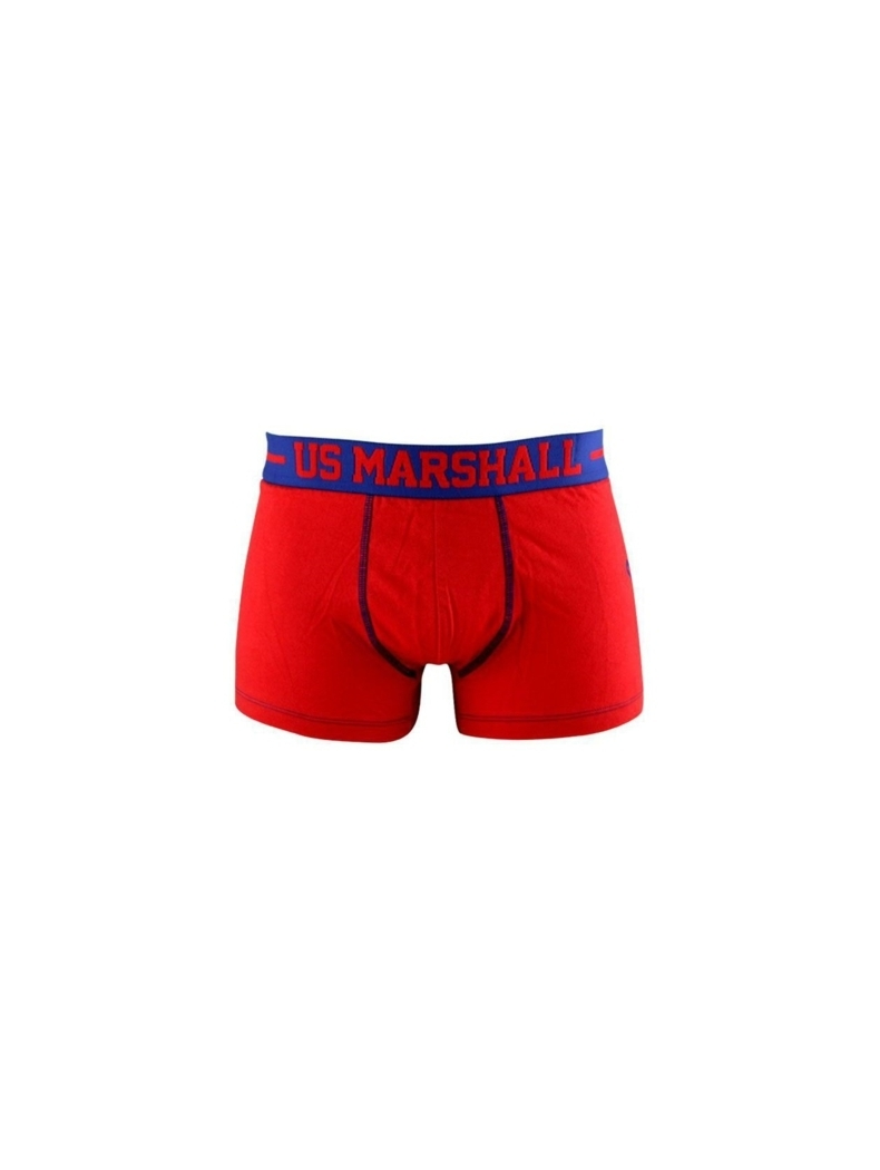 boxer rouge official us marshall homme pas cher