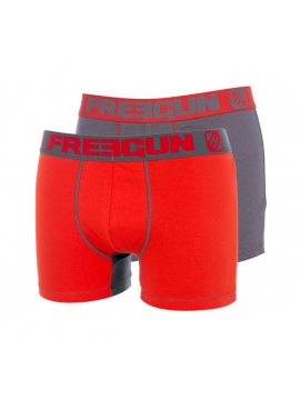 Lot de 2 Boxers fashion Freegun DUO Gris Rouge