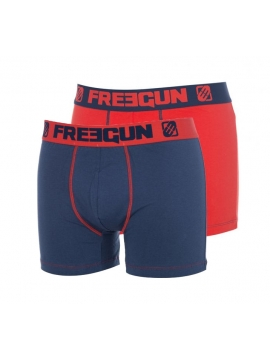 Lot de 2 Boxers Homme Freegun DUO Rouge Marine