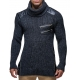 pull homme fashion col roule vetement homme pas cher