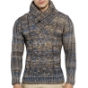pull homme col montant laine pas cher br
