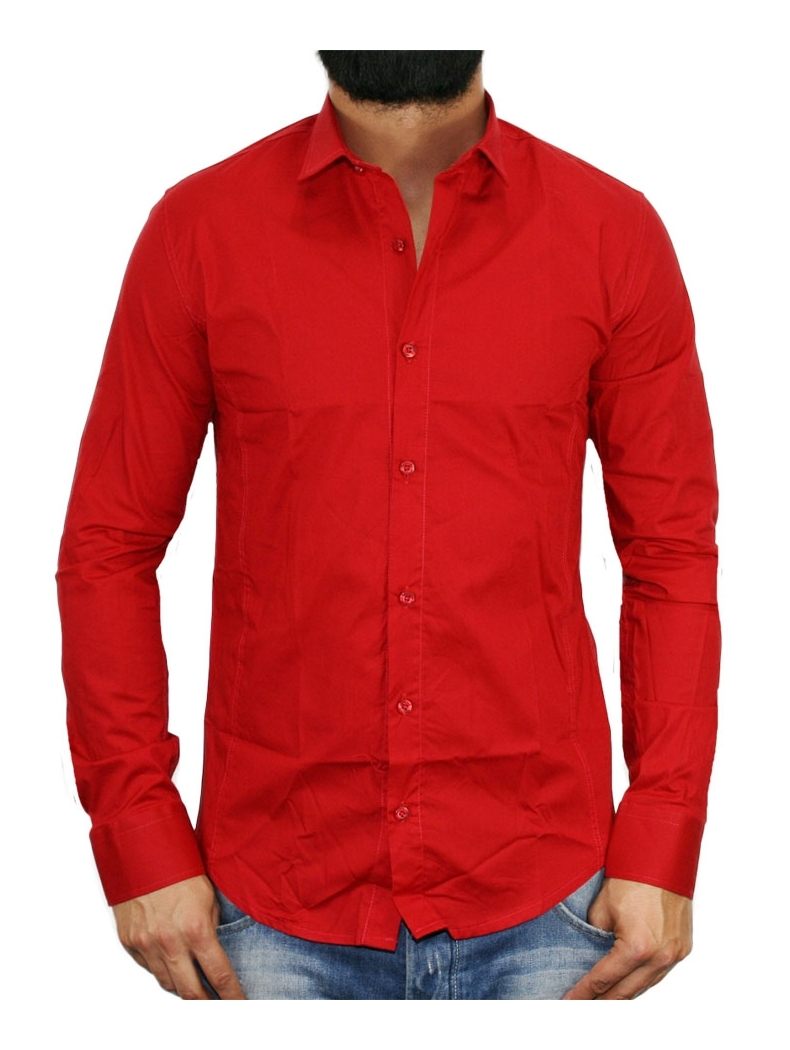 Caleche Homme Chemise Rouge Dtsqhr Mariage Chemises 8Pkn0OXw