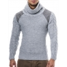 pull gris homme col roule pulls fashion pas cher