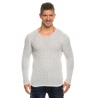 pull homme pas cher blanc