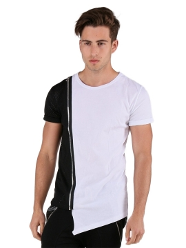 tee shirt homme asymetrique blanc aarhon
