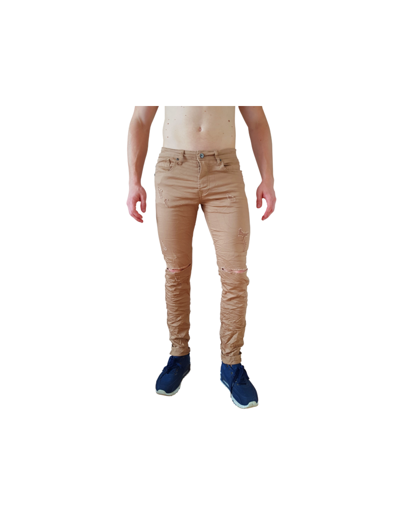jeans fashion dechire effet rape use coupe slim fit