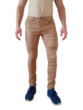 jeans homme fashion effet rape coupe slim couture originale